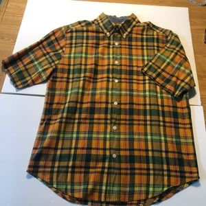 Woolrich Plaid Short Sleeve Button Down Shirt